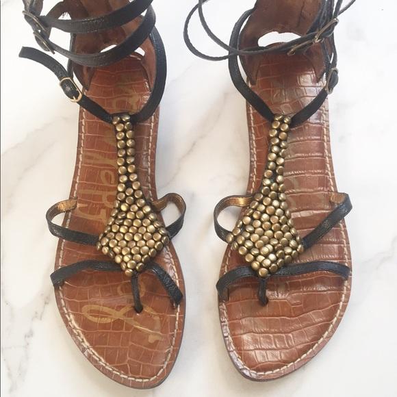 8eefcb62e04b57 Sam Edelman Ginger beaded gladiator sandals. M 5a44f3b5d39ca21eba0ca023